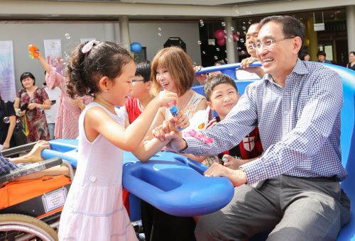 SMRT CEO at Intergenerational Playground at St Joseph's Home