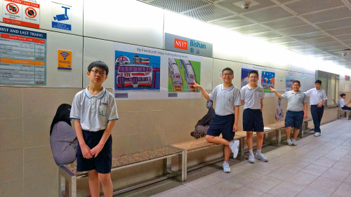 Pathlight School Student contributing artwork to SMRT's Train Stations