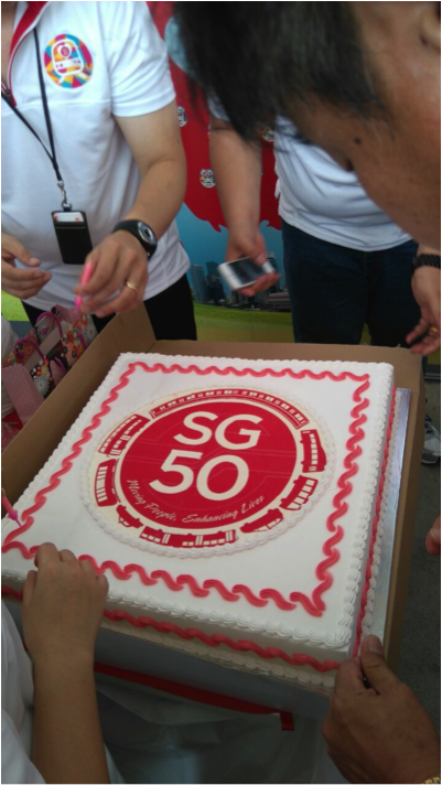 Did you manage to get a bite of the SG50 cake that we had at the interchanges?