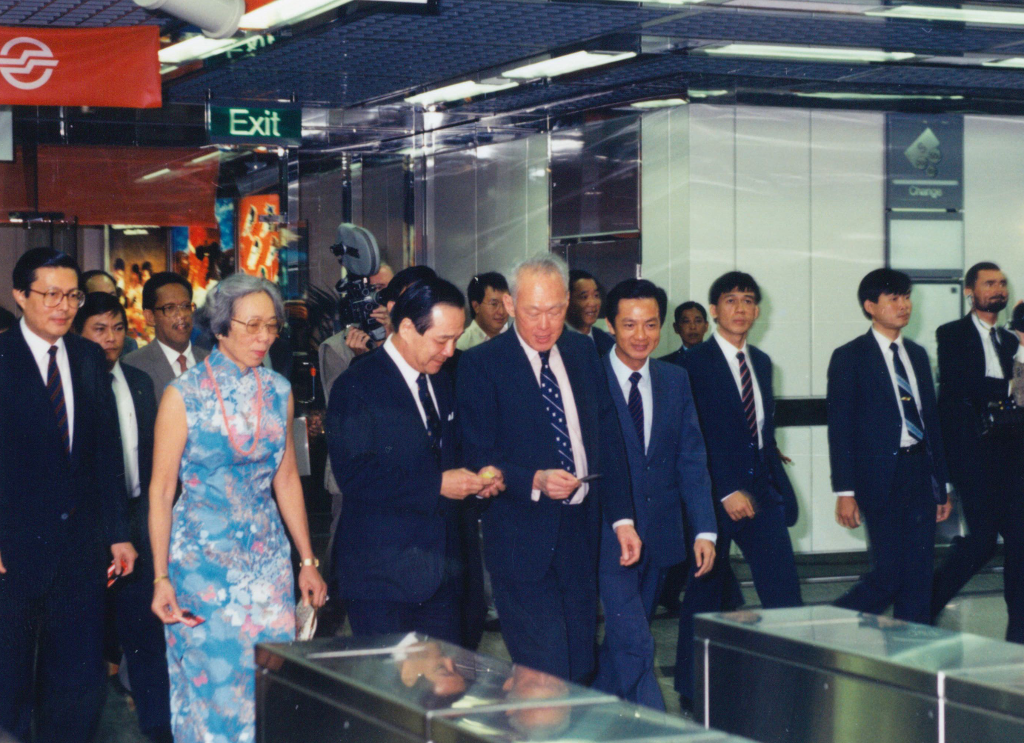 The MRT system is officially launched by Mr Lee Kuan Yew, Singapore's first Prime Minister