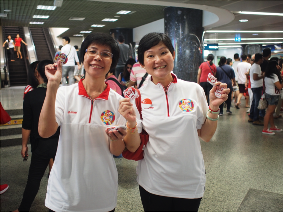 Visit selected train stations and bus interchanges today to get a free badge in celebration of SG50