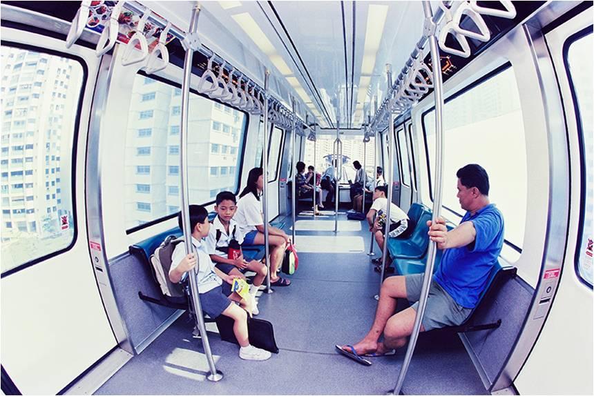 Passengers onboard the LRT