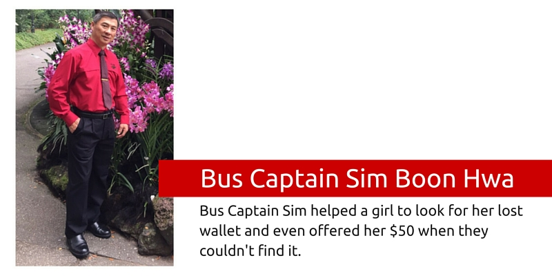 SMRT Bus Captain Sim Boon Hwa