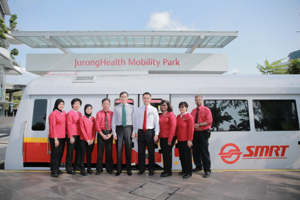 SMRT CEO Desmond Kuek at Mobility Park Launch