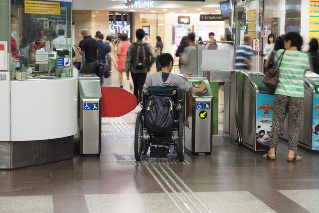 SMRT Larger fare gates