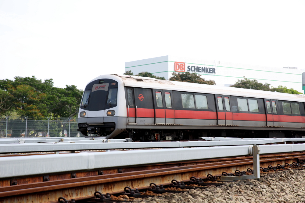 SMRT Train at Changi Depot
