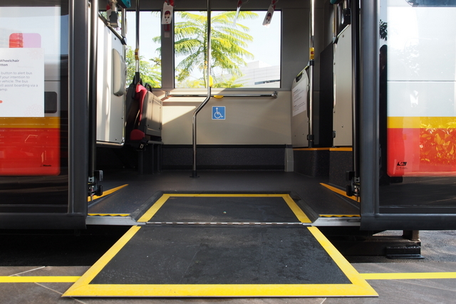 SMRT Wheelchair accessible bus