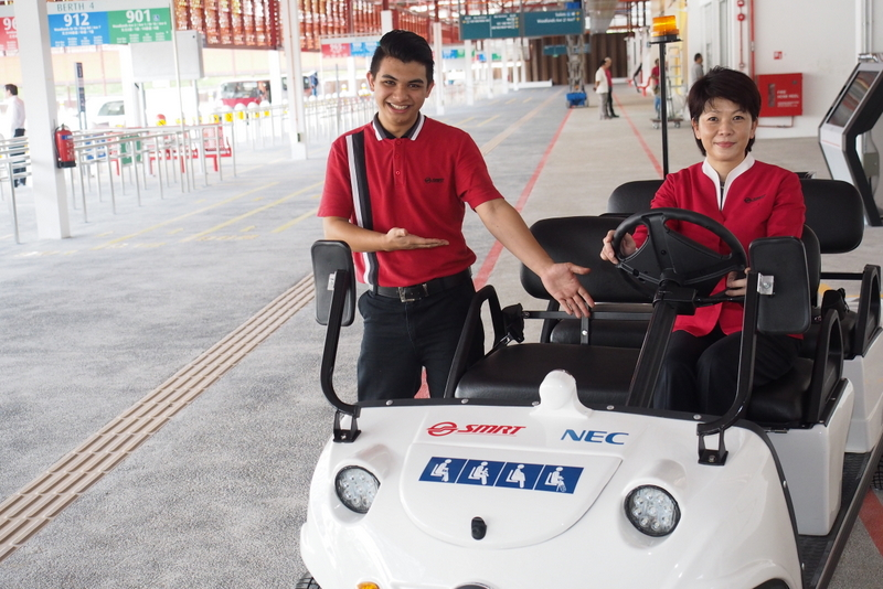 SMRT Woodlands Temporary Bus Interchange Electric Buggies