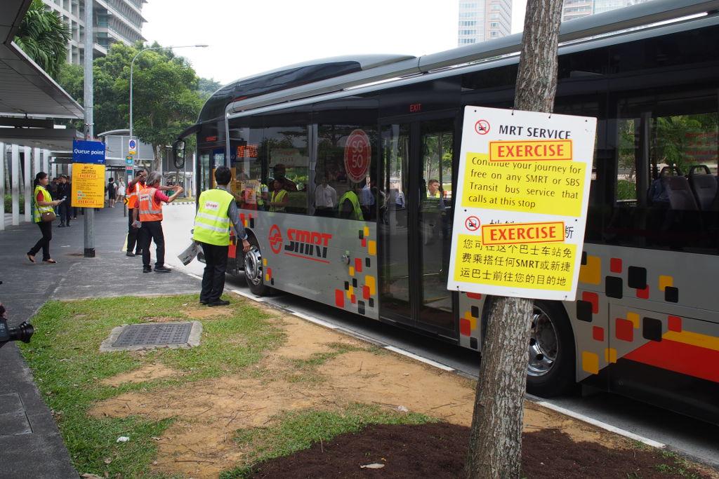 SMRT bus bridging exercise