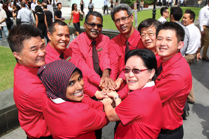SMRT Staff all hands in