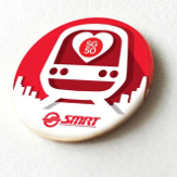 SMRT SG50 Red and White Train Button