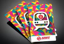 SMRT SG50 Mosaic Train EZLink Sticker