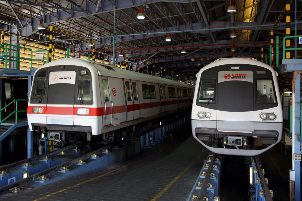 Siemens Train at SMRT depot
