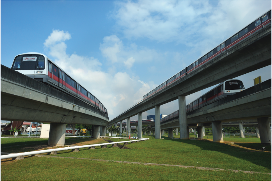 SMRT Trains on service at Jurong East