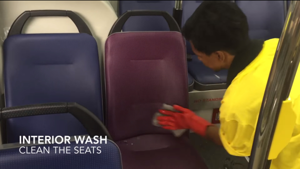 SMRT Bus Wash Interior Wipe