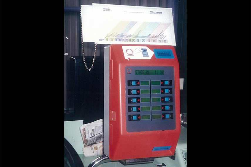 Bus Validators were a common sight on public buses in the 90s