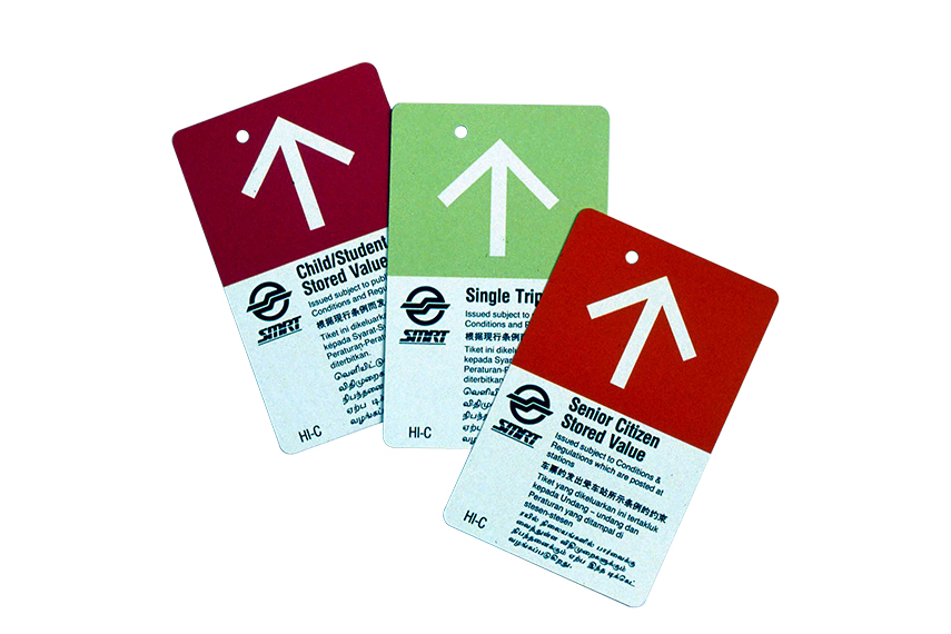 SMRT Magnetic Farecards