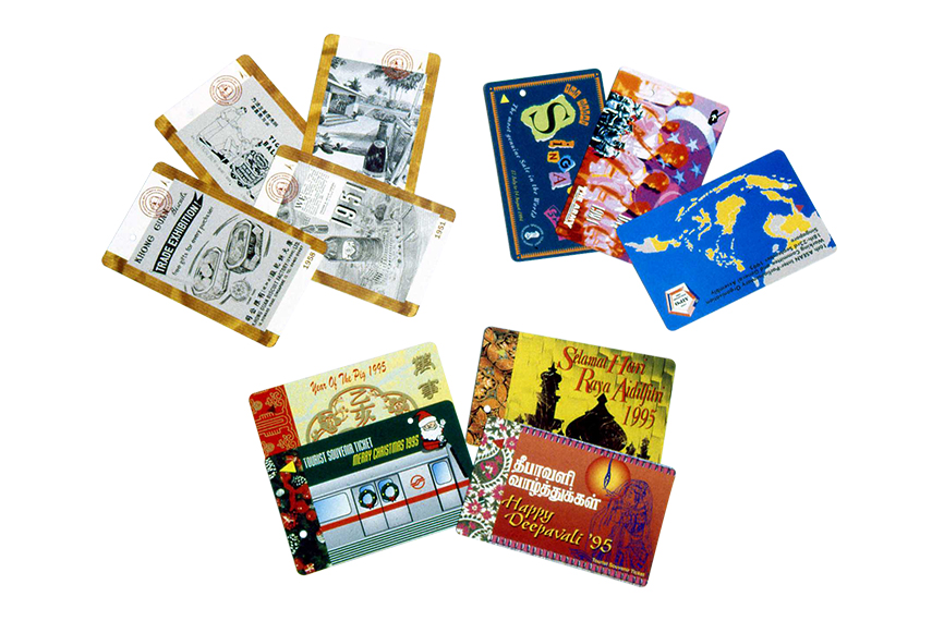 SMRT Magnetic Farecards with a wide range of designs